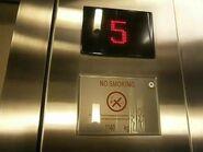 Schindler D-Line red indicator Mandarin Oriental jakarta