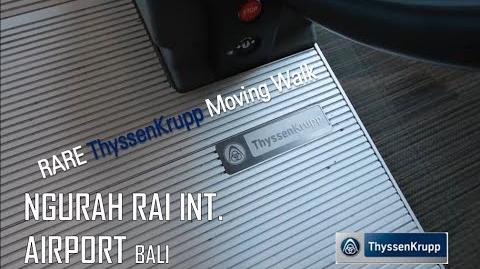 ThyssenKrupp iWalk Moving Walk at Ngurah Rai Int. Airport, Bali (Airside)