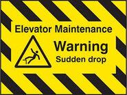 Elevator maintence Sign