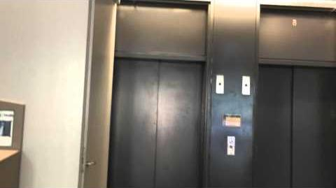 Circa Early 1990s Dover (Model: Oildraulic) Hydraulic Elevators at SJSU Engineering Building in San Jose, CA