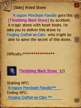 Weird stone