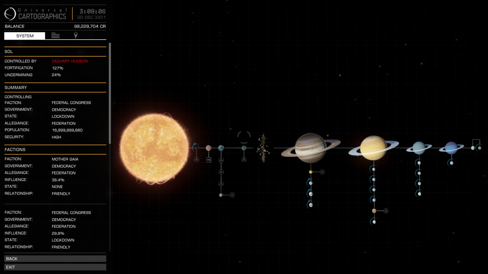 Ringed Black Hole Elite Dangerous