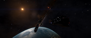 Satellite Inhabited Planet