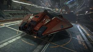 E-D - Asp Explorer - Red Pharao Front Top Coriolis Hangar