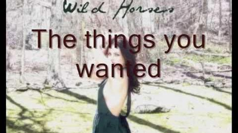 Wild Horses - Elizabeth Gillies (Cover) - Lyrics