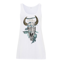 Skull Flower Ladies Tank: £30.00