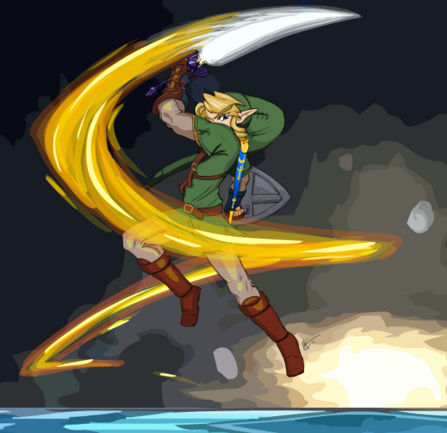 Link s Spin Attack colored by Creamy423