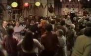 Emmie inside village hall 1975