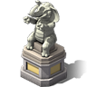 Seated Elephant Statue