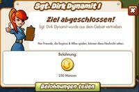 Sgt. Dir Dynamit I Belohnung (German Reward text)