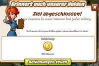 Erinnert euch unserer Helden Belohnung (German Reward text)