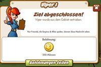 Viper I Belohnung (German Reward text)