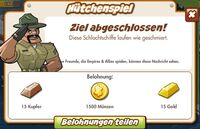 Hütchenspiel Belohnung (German Reward text)