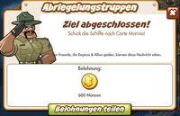 Abrieglungstruppen Belohnung (German Reward text)