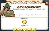 Luftschiffe vom Himmel holen Belohnung (German Reward text)