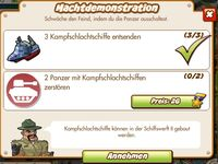 Machtdemonstration (German Mission text)