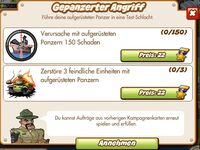 Gepanzerter Angriff (German Mission text)