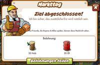 Markttag Belohnung (German Mission Reward)