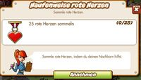 Haufenweise rote Herzen (German Mission text)