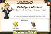 Erntehelfer Belohnung (German Reward text)