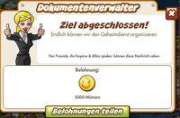 Dokumentenverwalter Belohnung (German Reward text)