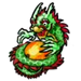 Goal Green Dragon Statue