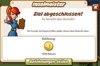 Inselmeister Belohnung (German Reward text)
