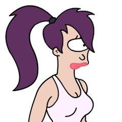 Leela in her undies
