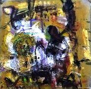 Un abstracto - Mixta sobre carton - 30x30cm - 2017