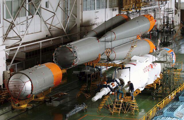 File:Soyuz rocket assembly.jpg