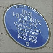 Blue plaque Hendrix