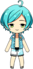 Kanata Shinkai Beach Bar Swimwear chibi
