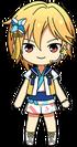 Nazuna Nito Tanabata uniform chibi