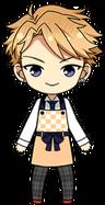 Arashi Narukami Apron Uniform chibi