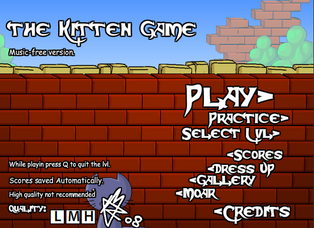 Kitten Game Title Screen