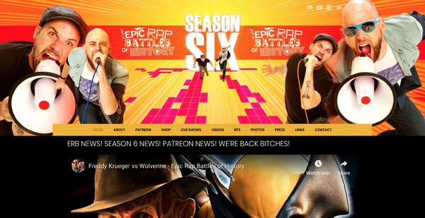 ERB Website Homepage