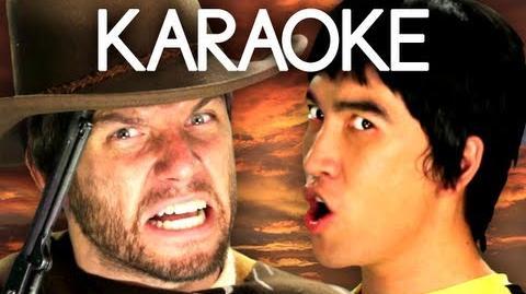 KARAOKE ♫ Bruce Lee vs Clint Eastwood. Epic Rap Battles of History