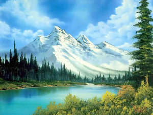 Bob Ross's Painting Based On