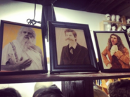 The Western Philosophers photographed in frames