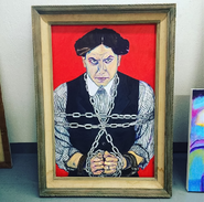 Harry Houdini Painting