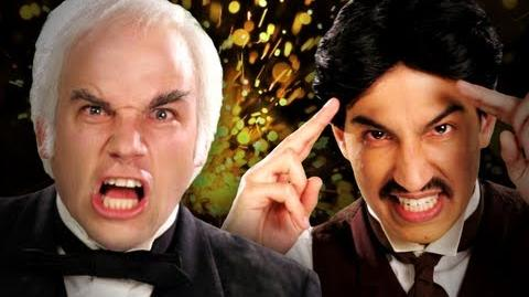Nikola Tesla vs Thomas Edison. Epic Rap Battles of History Season 2