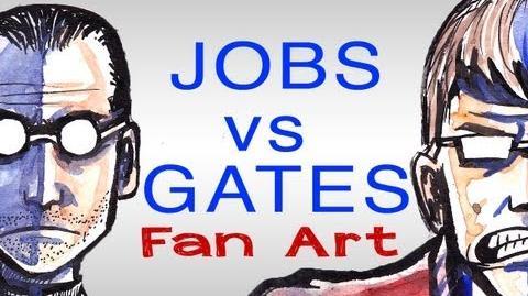 EPIC DRAWING OF HISTORY - Bill Gates VS Steve Jobs!