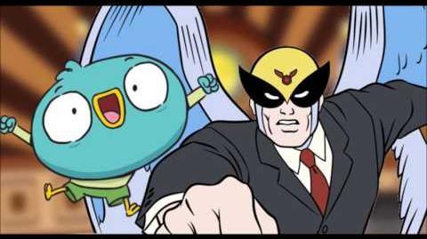 Harvey Beaks vs Harvey Birdman