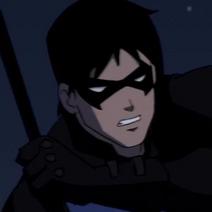 Nightwing in battle