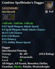 Combine Spellbinder's Dagger