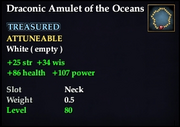 Draconic Amulet of the Oceans