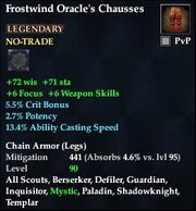 Frostwind Oracle's Chausses