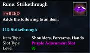 Rune- Strikethrough