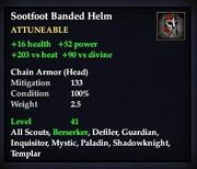 Sootfoot Banded Helm