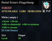 Portal Scion's Fingerhoop